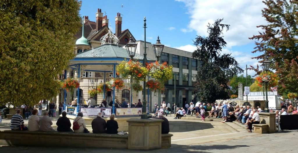 The bandstand in the Carfax