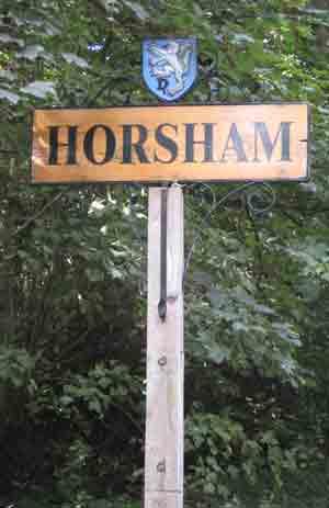 Horsham sign